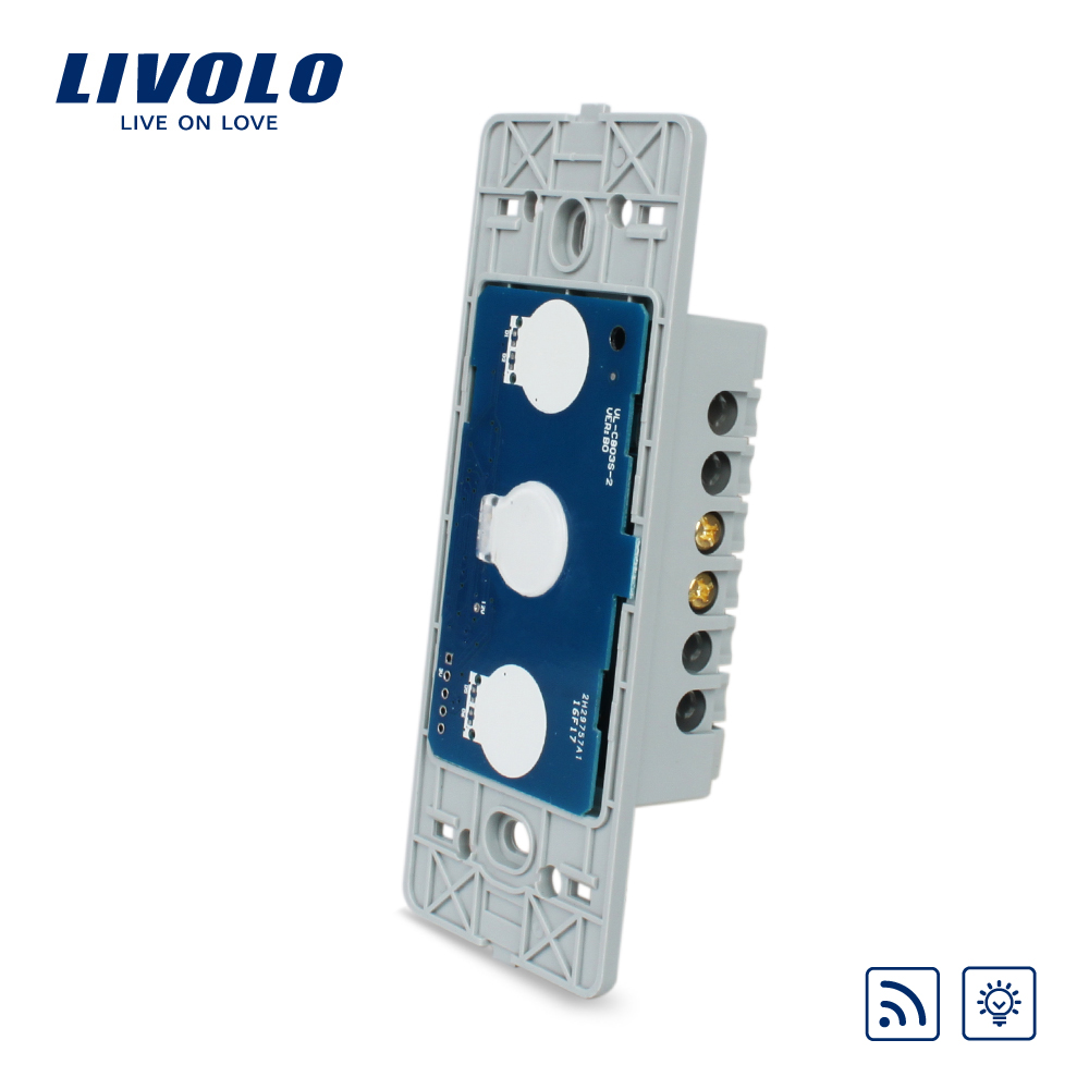 Livolo US standard 1 gang Wall Light Touch Dimmer Remote Switch,  Without Glass Panel, ,VL-C501DR 2017 smart home crystal glass panel wall switch wireless remote light switch us 1 gang wall light touch switch with controller