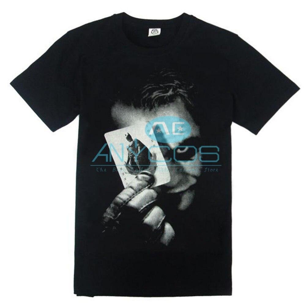 Бэтмен Темная ночь Джокер футболки хлопок Для мужчин летние шорты Принт футболки Размеры S-XXXXL Косплэй костюм для Для мужчин; Бесплатная дос...