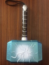2019 sell like hot cakes Thor Avengers Alliance Series toy 28cm Luminous voice Thor Hammer Halloween Show Props weapons model