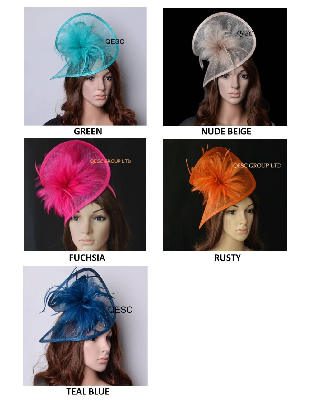 NEW HOT sinamay fascinator women s hat in SPECIAL shape w feathers for hair accessory racesurch