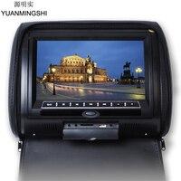 Yuanmingshi 9 'hdデジタル車ヘッドレストdvdプレーヤーfmトランスミッタ付きワイヤレスコントローラとヘッドレストカバー