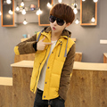 HOT Men Jacket Thicken Winter Jacket Men Windbreaker Jacket For Men Slim Warm Casual Cotton-Padded Men Coat Dark Blue