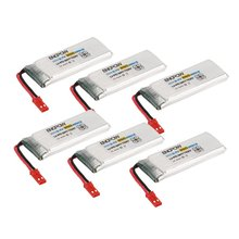 6PCS/2pcs Engpow 3.7V 850mAh 1S Rechargeable Lipo Battery Mini JST Plug Connector For RC Drone Quadcopter Helicopter Spare Parts 7 4v 850mah supply of remote control aircraft flying saucer axis lithium battery 7 4v 850mah 20c jst plug 703048