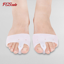 Buy PCSsole Toe Seperating Gel Pedicure Shield foot care sillicone Toe Separators Bunion Protector  Straightener Corrector O1001 directly from merchant!