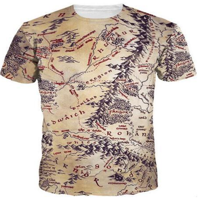 19ad378513b5e 2018 new fashion men women Cool T-shirt 3d Print forest treasure map Short  Sleeve Summer Tops Tee Hot style Stylish clothing