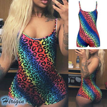 Summer Jumpsuits 2019 New Women Sexy Sleeveless Square Collar Colorful Spot Stretch Skinny Jumpsuit