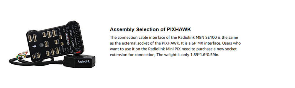 do controlador de voo de radiolink pixhawk
