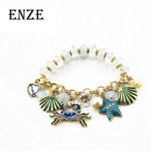 Fashion bracelet 2014 New fashion and pure fresh quietly elegant 130630 contracted crabs many elements