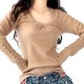 Свитера 2017 Женщин Зимы Способа Женщин Свитер Пуловеры Свернуть Кашемировый Свитер Свободный Пуловер Свитера Оптом