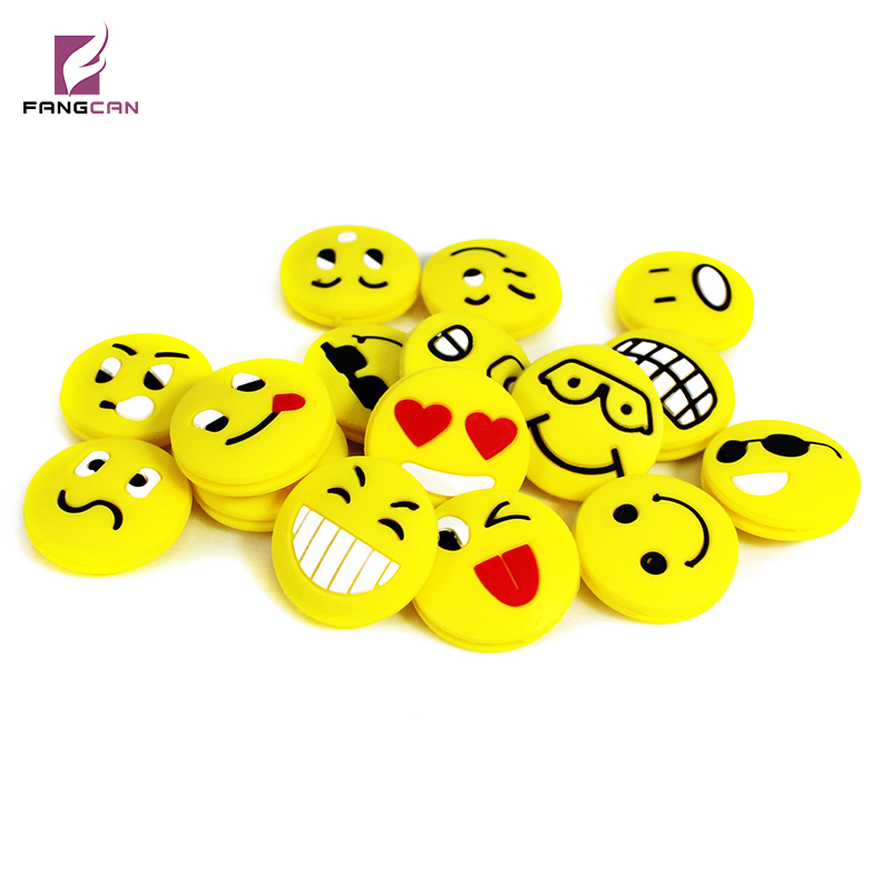6pcs/pack FANGCAN Squash Racket Vibration Dampener Cute Faces Expression Non-toxic silicon Shock Absorption Vibration Dampener