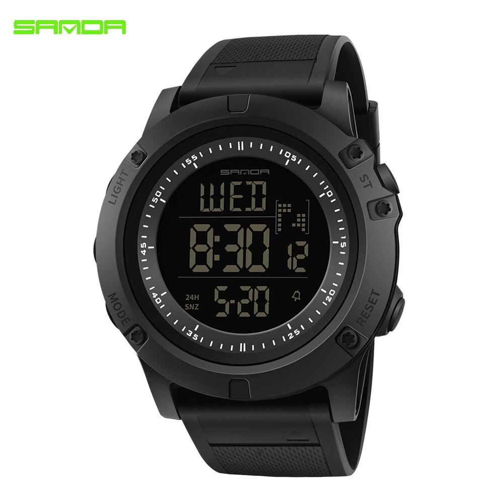 Waterproof Watches Digital SANDA Back-Light Clock Sport Electronic Men LED 372 for Male