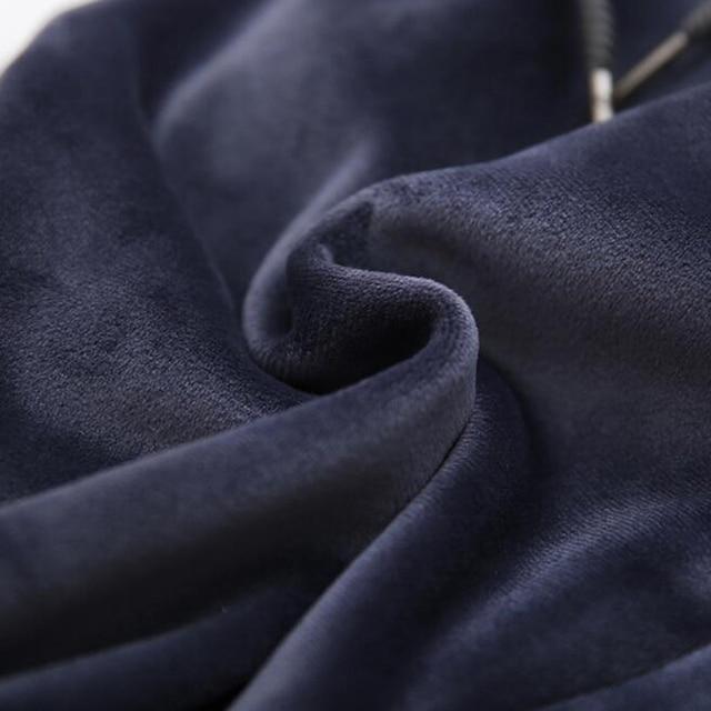 Rihschpiece Winter Plus Size 3XL Velvet Pants Women Elastic High Waist Harem Pant Warm Loose Fleece Sweatpants Trousers RZF1410 2