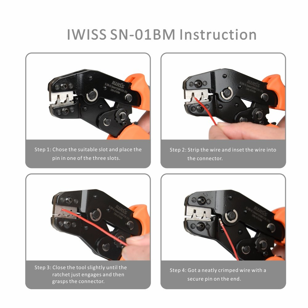 SN01BM Terminal Crimping Tool For Dupont PH2.0 KF2510 Servo 0.08-0.5mm² GL