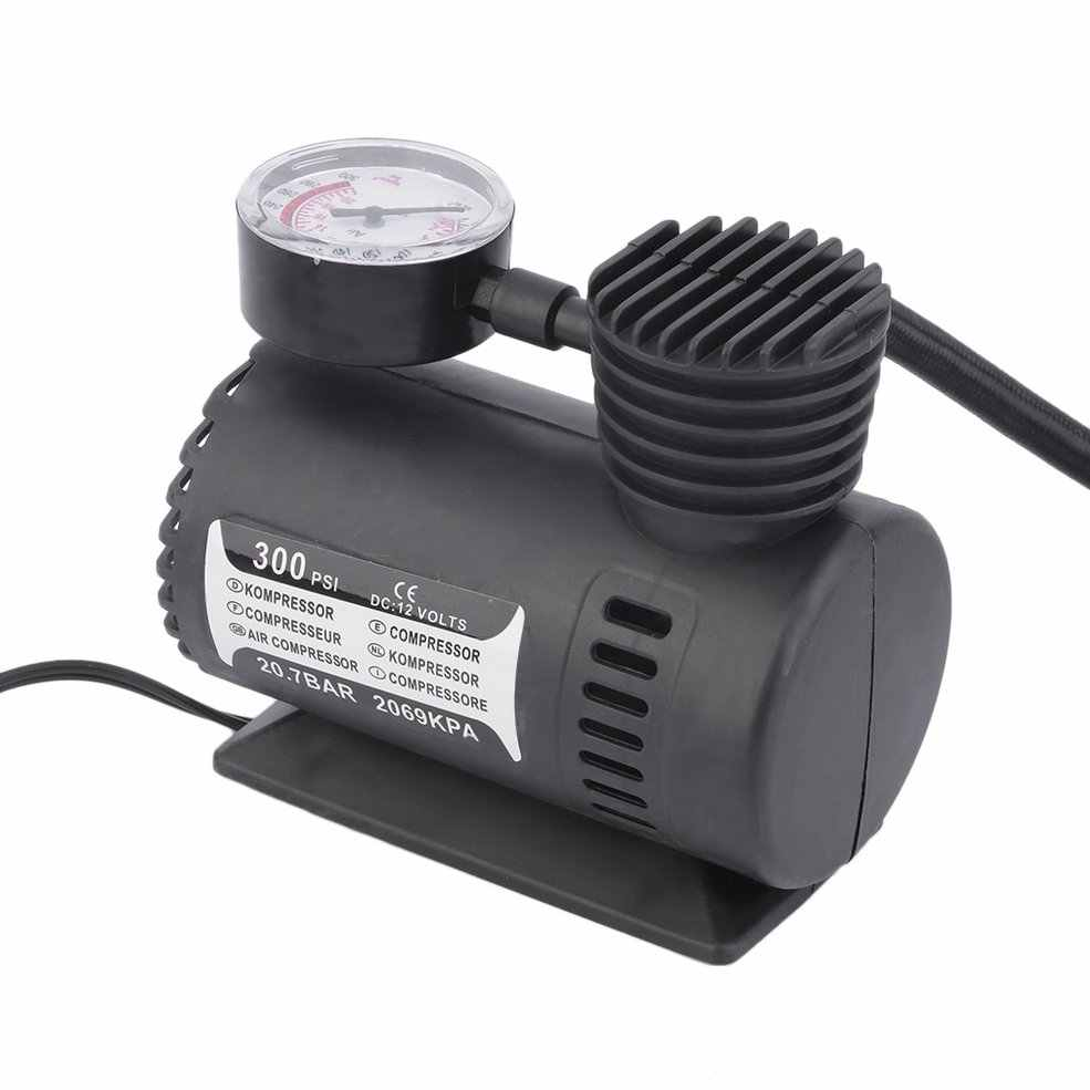 Mini 12V Inflator Pump Toys Sports Electric Pump Portable Mini Compact Compressor Pump Tyre Air Inflator Hot Sale