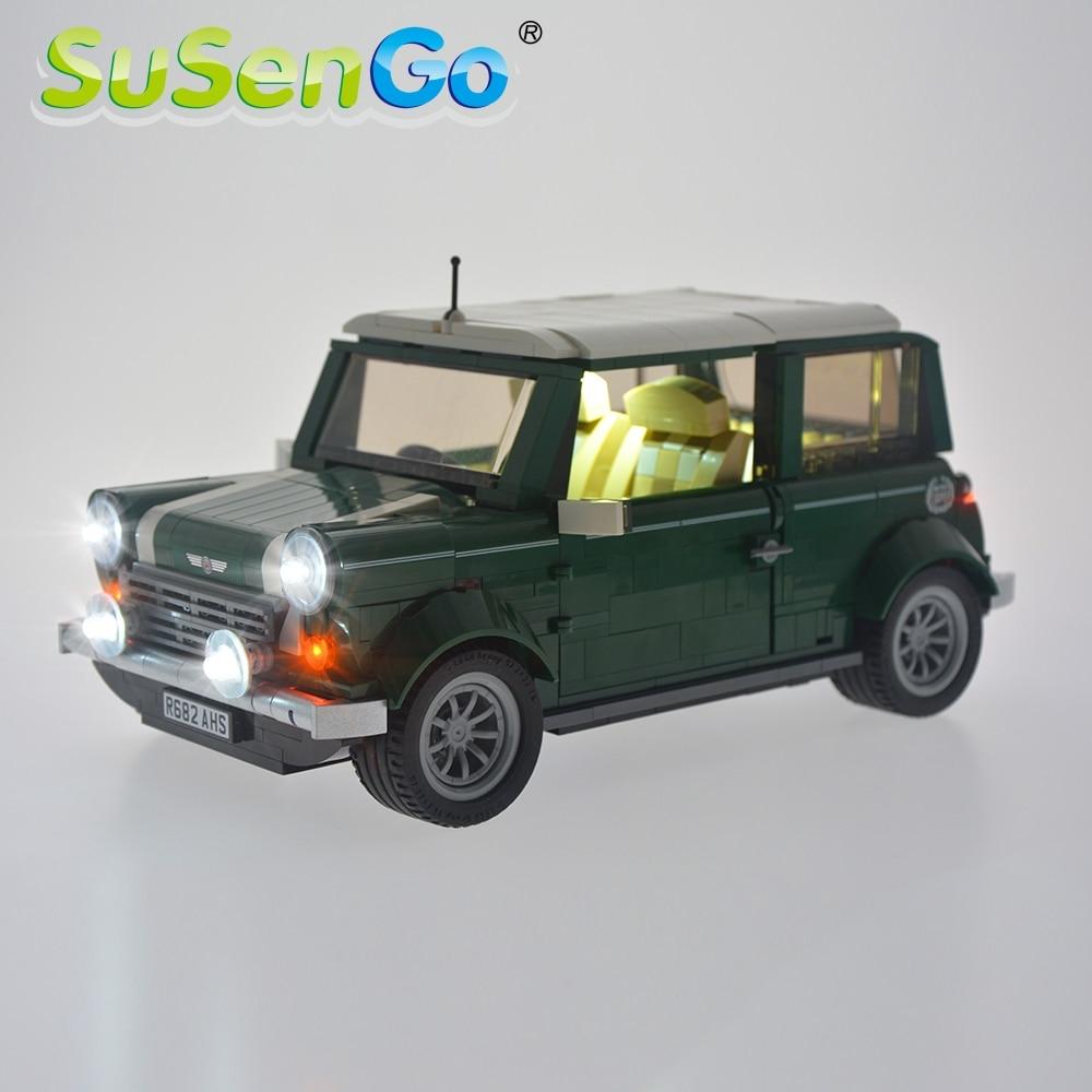 SuSenGo Led Light Kit For 10242 Mini Cooper Toys Lighting Set Compatible With 21002 10568 NO Building Blocks Model