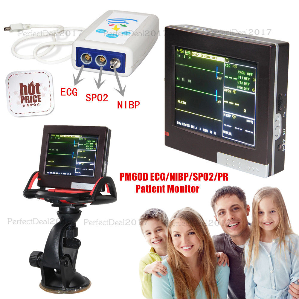 PM60D Contec Patient Monitor 4 Parameters Vital Signs Monitor ECG NISP SPO2 PR signs page 4