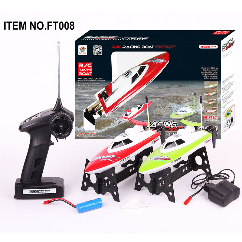 RC Boats Model 14km/h High Speed Radio Control Electronic RC Boat FT008 27MHZ Remote Control Toys Best Xmas Gift for ChildrenRC Boats Model 14km/h High Speed Radio Control Electronic RC Boat FT008 27MHZ Remote Control Toys Best Xmas Gift for Children