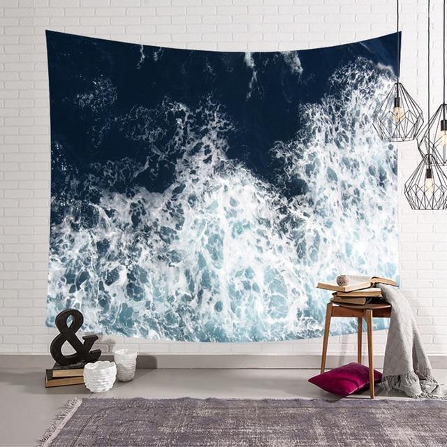 3D Ocean Print Tapestry 4
