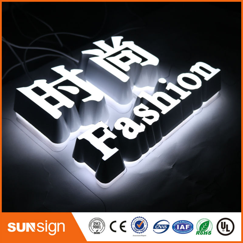 Acrylic LED Letters For Led Hair Cuts Sign