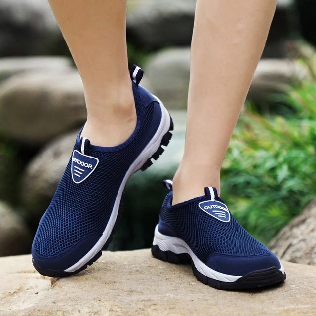 حجم كبير الانزلاق على أحذية رياضية الرجال احذية الجري الرجال أحذية رياضية الذكور حذاء رياضي تنس رمادي Spor Ayakkabi Erkek المدربين رياضة B-282 5