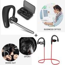 Conductor del coche Auriculares Bluetooth Compatible con iPhone Auricular Bluetooth Deporte auriculares bluetooth Auriculares del Entrenamiento
