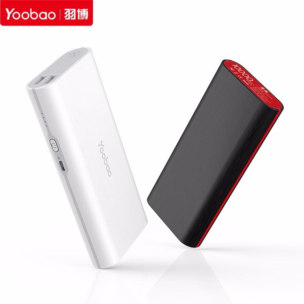 S7-10000mAh Yoobao banco Portable USB Dual 2A de Carga Powerbank Móvil Cargador