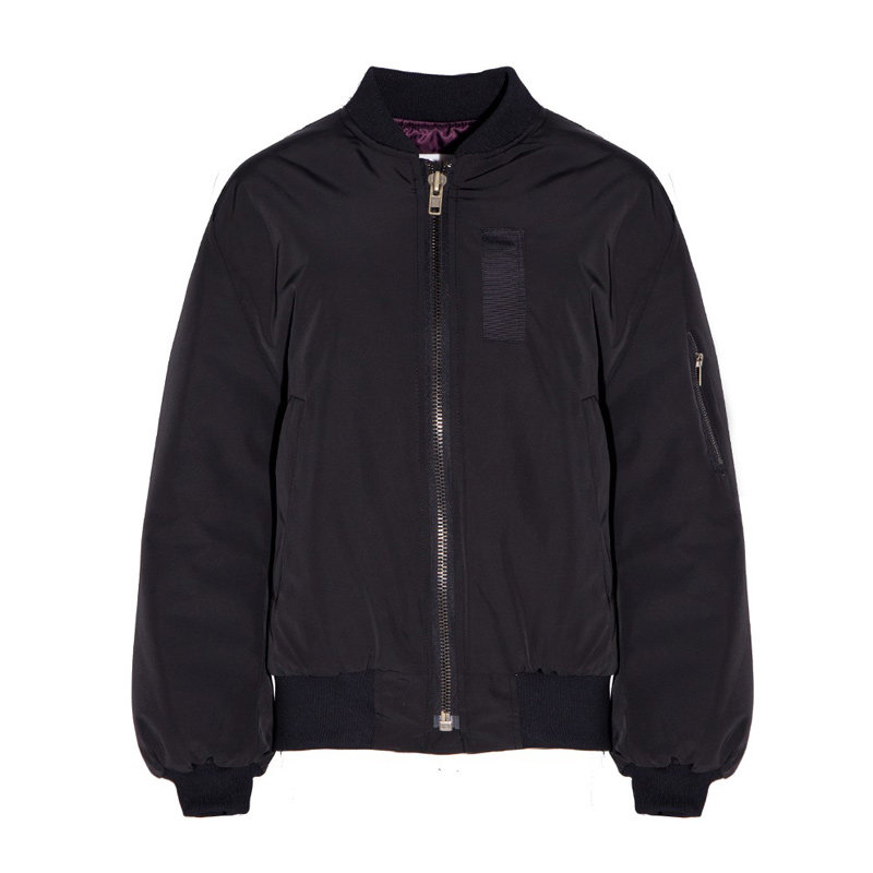 2016 Women Black Baseball Jacket Back Embroidery Bird Jacket Coats ...