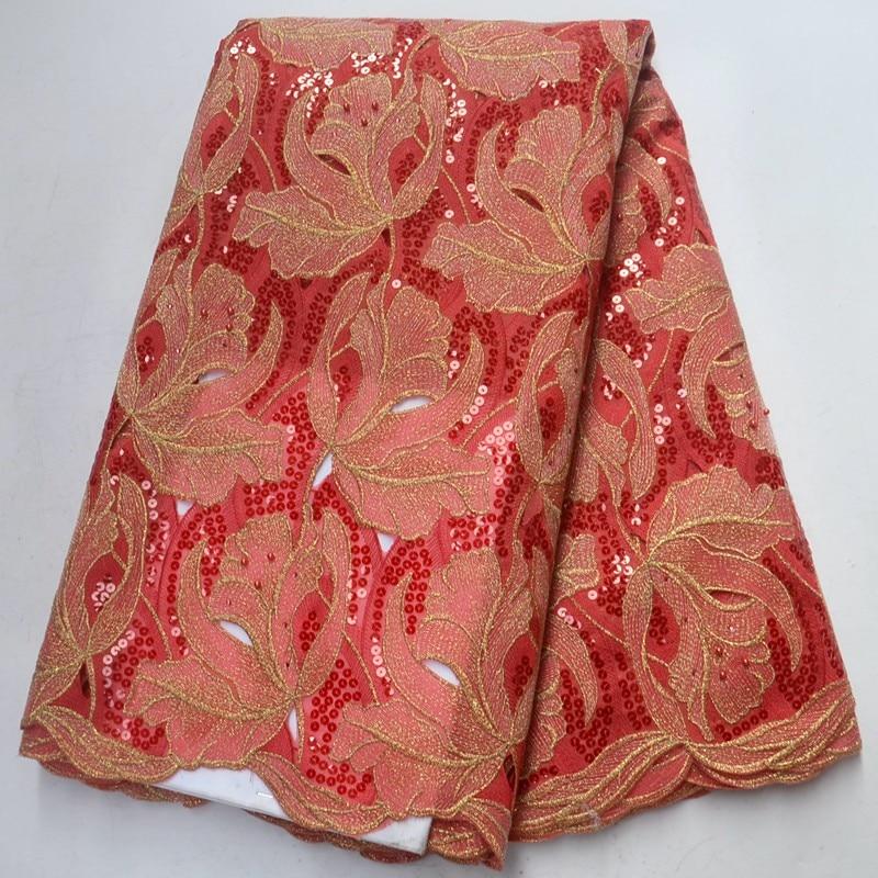 Самые популярные африканские ткани шнурка с блестками вышитые бисером сетка тюль, кружево ткани органза кружева ткани для платья PSA262 2