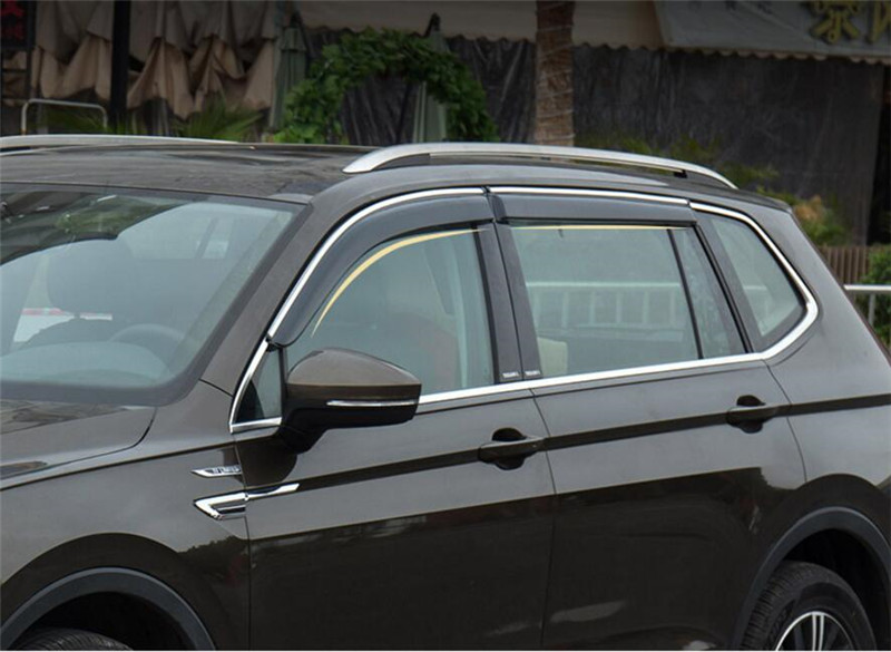 Car Styling Window Shades Sun Rain Deflector Guard Awnings For Volkswagen VW TIGUAN 2010 2011 2012 2013 2014 2015 2016 4pcs for toyota corolla 2014 2015 sun rain shield covers car awnings