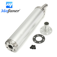 Motorcycle Race Steel Exhaust Muffler Silencer Pipe For Street Scooter Universal