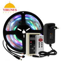 6803 IC Dream Color RGB LED Strip 5050 30LED/m IP67 Waterproof 5M + 133 Program RF Magic Controller + Adapter