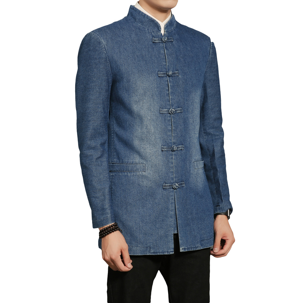 2018 Chinese Style Tang Suit Standing Collar Fashion Casual Men