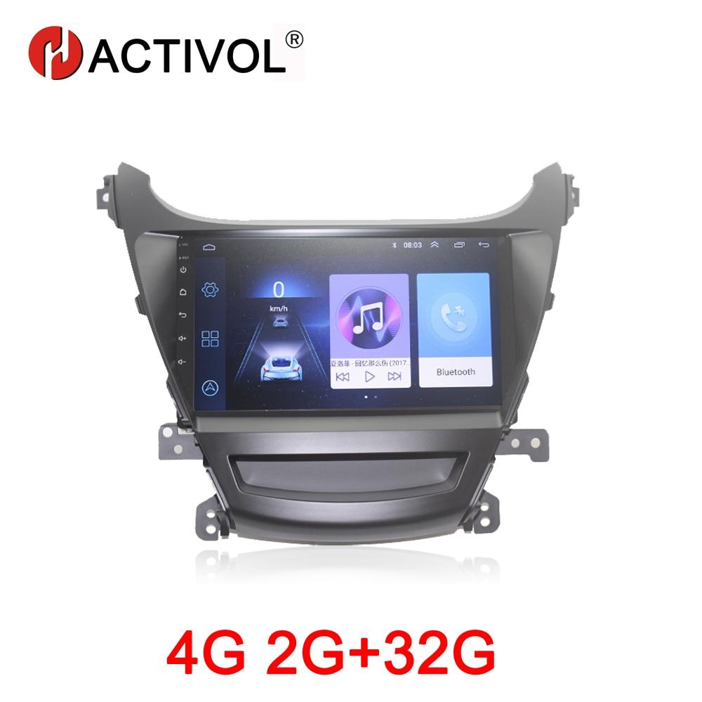 HACTIVOL 2G 32G Android 8 1 Car multimedia for Hyundai Elantra 2014 foreign car dvd player