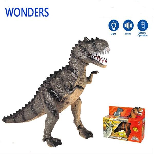Большой размер аниме парк юрского периода динозавр игрушка тираннозавра свет звук электронная игрушка для детей малыш масштабная модель