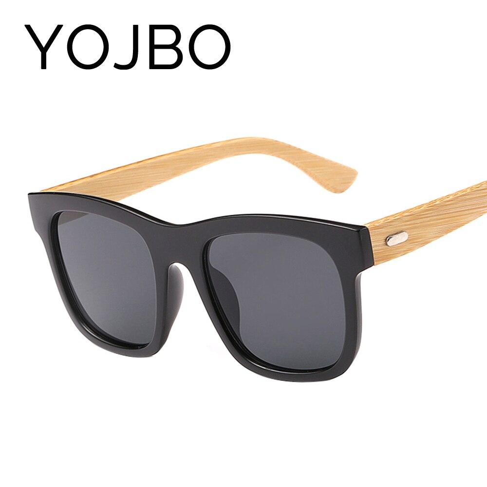 YOJBO Bois Vintage lunettes de Soleil Femmes Hommes Bambou 2018 Miroir Dames  Lunettes Conduite Sport Uv400 Lunettes de Soleil Marque Designer Lunettes 71879a7f21ad
