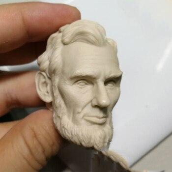 Tallado de cabeza blanca para hombre, modelo a escala 1:6, sin pintar,...