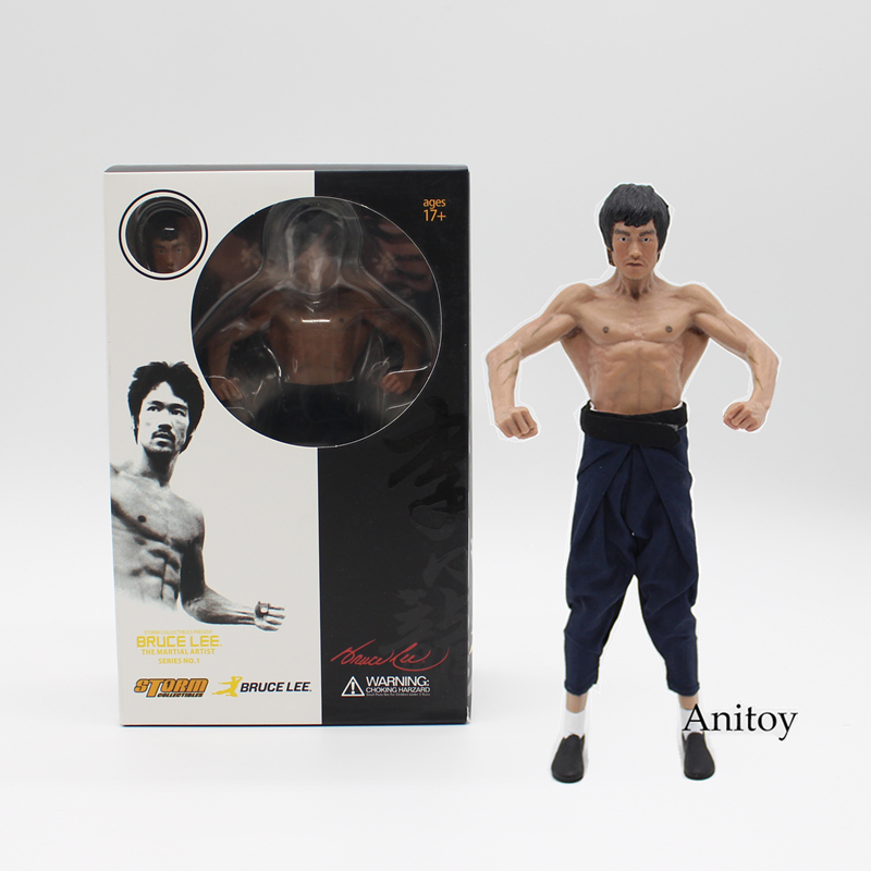 Bruce Lee Real Clothing Ver. 1/8 Scale Painted Figure Latissimus Dorsi Doll PVC Action Figure Collectible Model Toy 19cm KT3418 1 6 scale figure doll game of death bruce lee with nunchakus 12 action figures doll collectible figure model toy gift no box