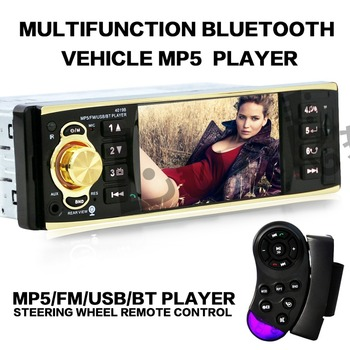 NIEUWE 4.1 inch TFT HD Screen autoradio Mp5 bluetooth Speler auto Audio Ondersteuning Achteruitrijcamera View SD/USB Auto MP4 MP5 1 din in dash