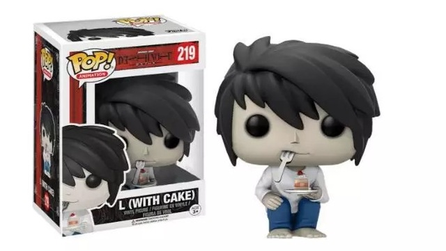 Funko pop   Movie:death note -L with cake Vinyl Figure  Model Toy with IN Box