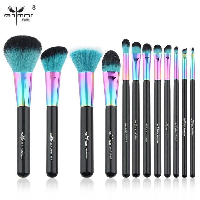 Anmor New Professional 12 pcs Makeup Brush Set Fantasy Makeup Brushes Foundation Powder Blush Eyeshadow Make Up Brushes