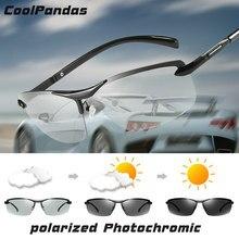 Ultraleve Liga Descoloridos óculos de sol dos homens polarizados  Photochromic condução Profissional Óculos de Sol men oculos de . 31d7a23f49
