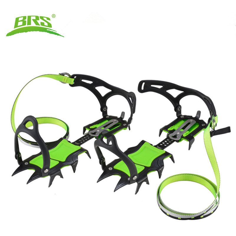 BRS outdoor climbing snow-capped teeth 14 Protection Fourteen Teeth Bundled Crampons Professional Ice Gripper 40mm brs s3 ultralight 14 teeth aluminium alloy bundled crampons ice gripper outdoor ice climbing kits
