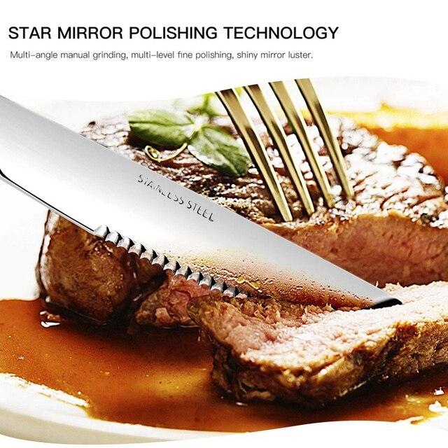 스테이크 나이프, 헤비 듀티 스테인레스 스틸 스테이크 나이프 12 개 세트 요리사 상업용 주방 바베큐 결혼식 용 저녁 식사 파