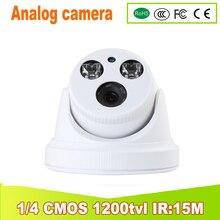 2018 NEW yunsye 2PCS led HD 1200 tvl analog camera infrared surveillance night vision camera ir:15m ir camera Indoor camera