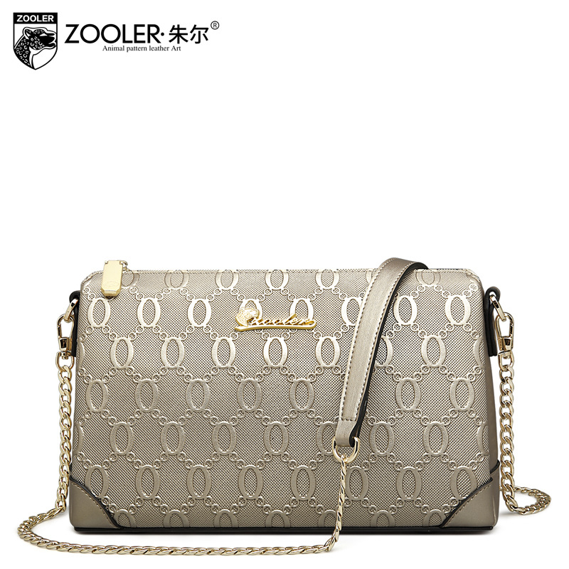 ZOOLER Genuine Leather Shoulder Bags Handbags Women Famous Brands Embossed Fashion Shell Bag Ladies Messenger Bags Sac A Main zooler fashion chains high quality genuine leather bags handbags women famous brand ladies cowhide messenger shoulder bag bolsas