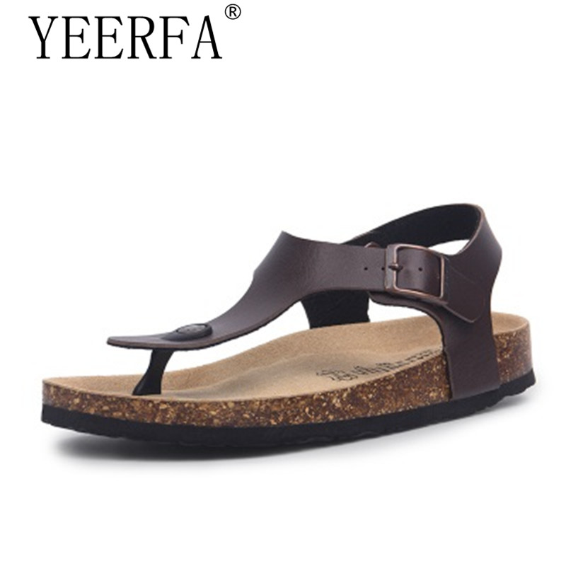9ef15df03a18 Detail Feedback Questions about Summer style Men Beach Cork Slippers Sandals  Casual Double Buckle Clogs Sandalias Man Slip on Flip Flop Shoe Plus Size  35 43 ...