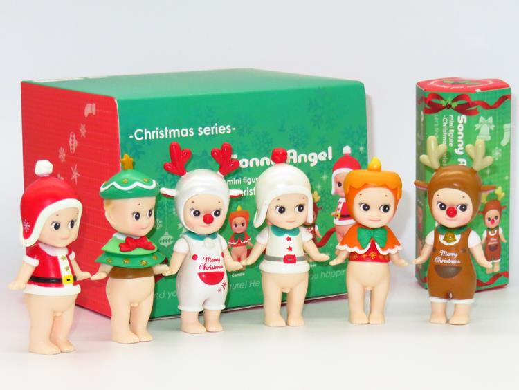 Sonny Angel 6pcs/set Mini Christmas Series Sonny Angel Dolls PVC Action Figure Collectible Model Toy