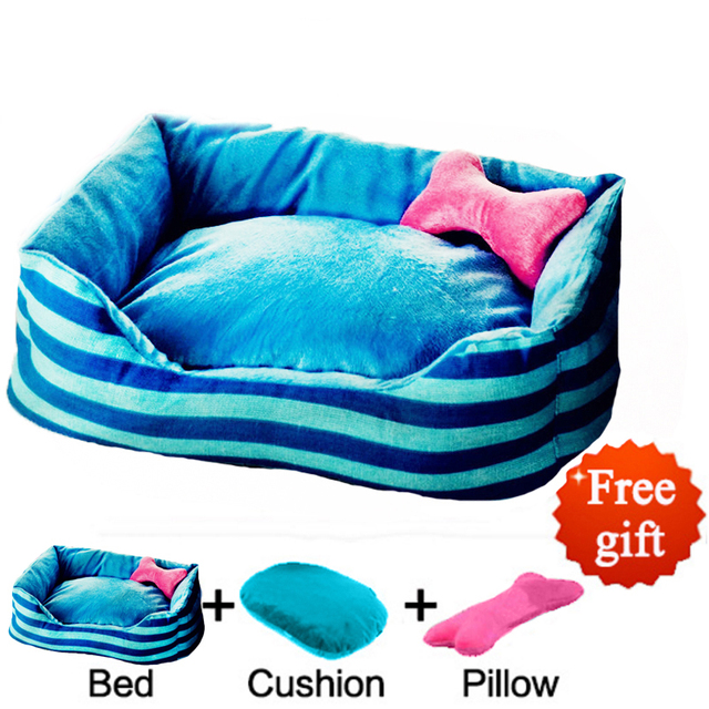 Dog Beds For Small Dogs House Durable Soft Pet Sofa Puppy Cat Mat Princess Style Poodle Pillow Three Pieces Set Blankets For Bed