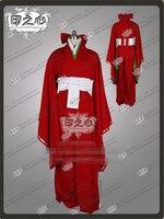 Новая одежда Аниме дневник будущего Касугано Цубаки кимоно Mirai Nikki 2nd форма Косплэй костюм полный комплект Костюмы + красное пальто