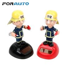 FORAUTO Firemen Shape Car Ornament Swinging Auto Accessories